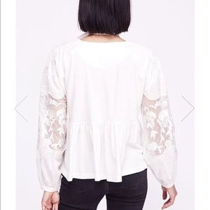 Free People Tops - Free People Embroidered Penny Tee